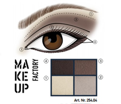 MAKE UP FACTORY EYE COLORS N.04