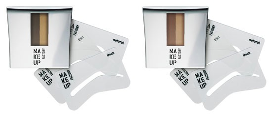 MAKE UP FACTORY EYE BROWN POWDER WITH STENCILS