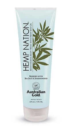 AUSTRALIAN GOLD HEMP NATION BODY WASH  BLENDED  WITH SEA SALT & SANDALWOOD 235 ML