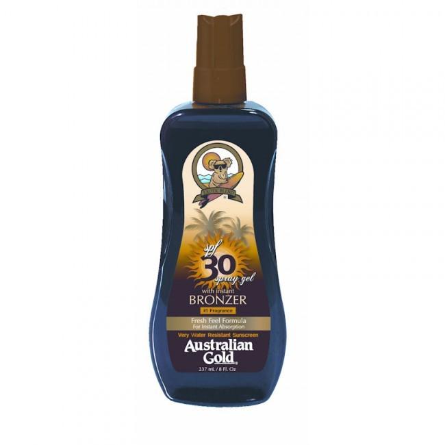 AUSTRALIAN GOLD SPRAY SPF 30 WITH ISTANT BRONZER